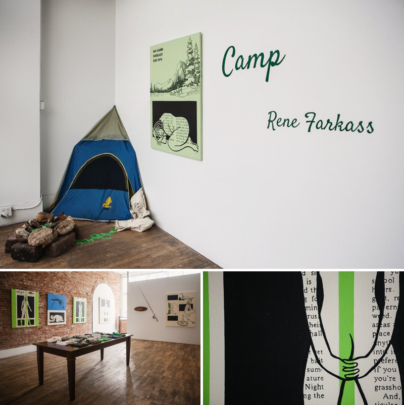 Rene Farkiss Camp at Leon Gallery | www.amandatipton.com
